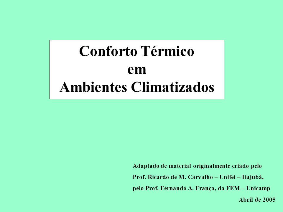 Conforto Térmico em Ambientes Climatizados