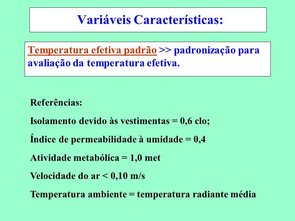 Variáveis Características: