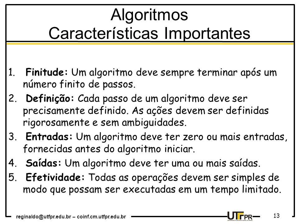 Algoritmos Características Importantes