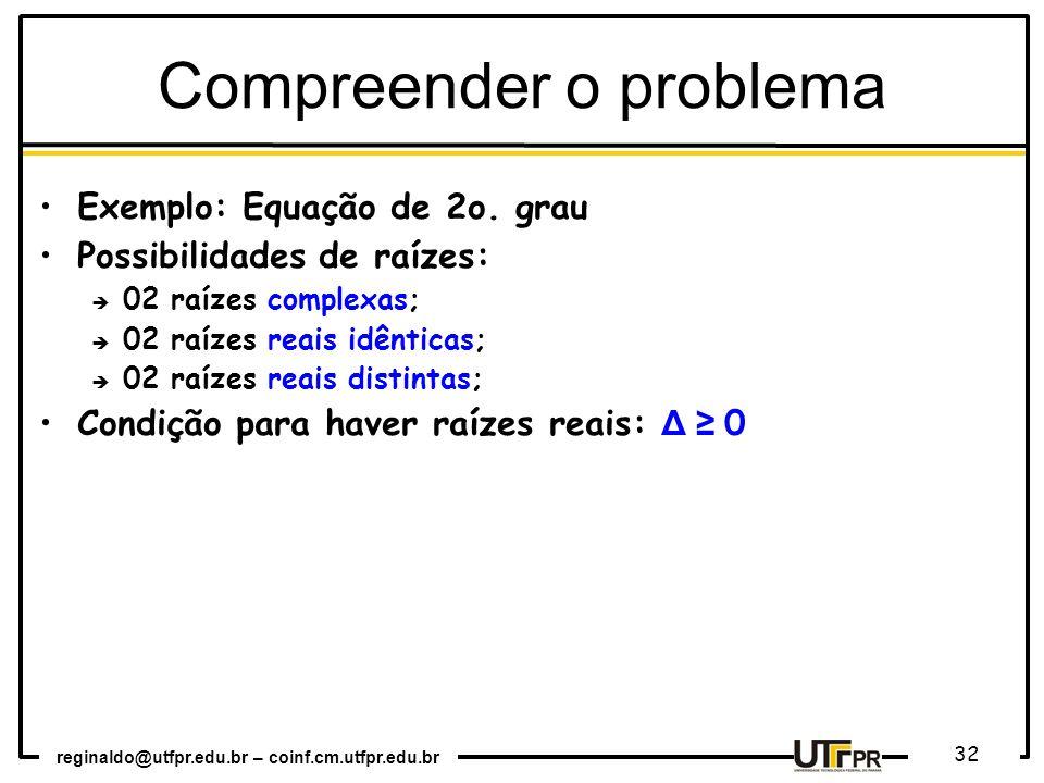 Compreender o problema