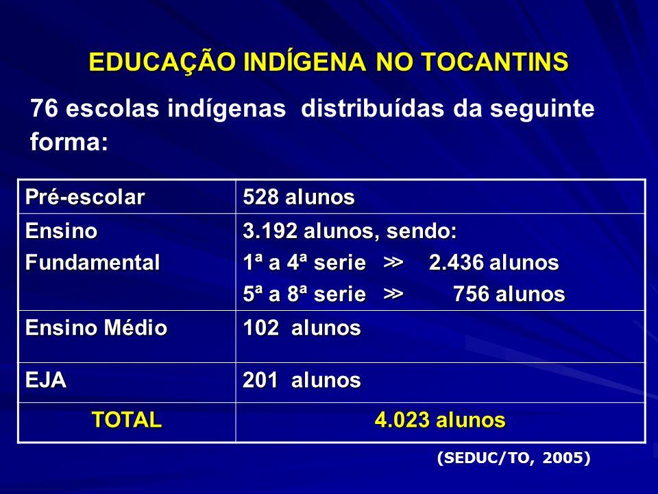EDUCAÇÃO INDÍGENA NO TOCANTINS