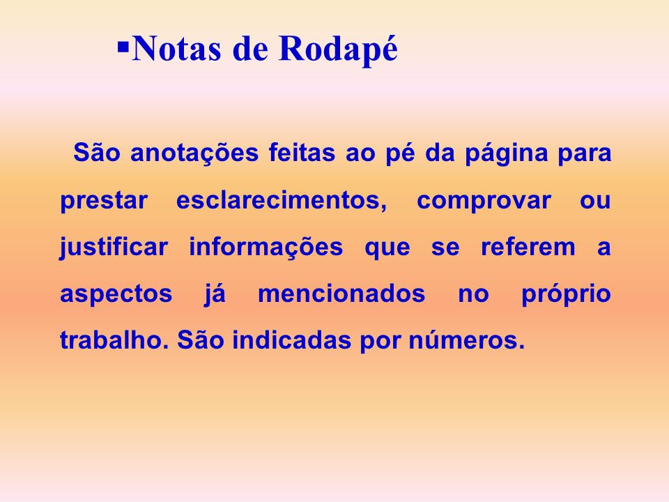 Notas de Rodapé