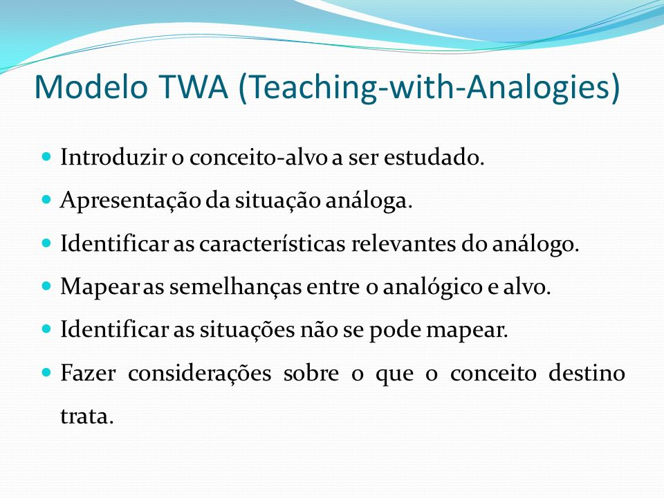 Modelo TWA (Teaching-with-Analogies)