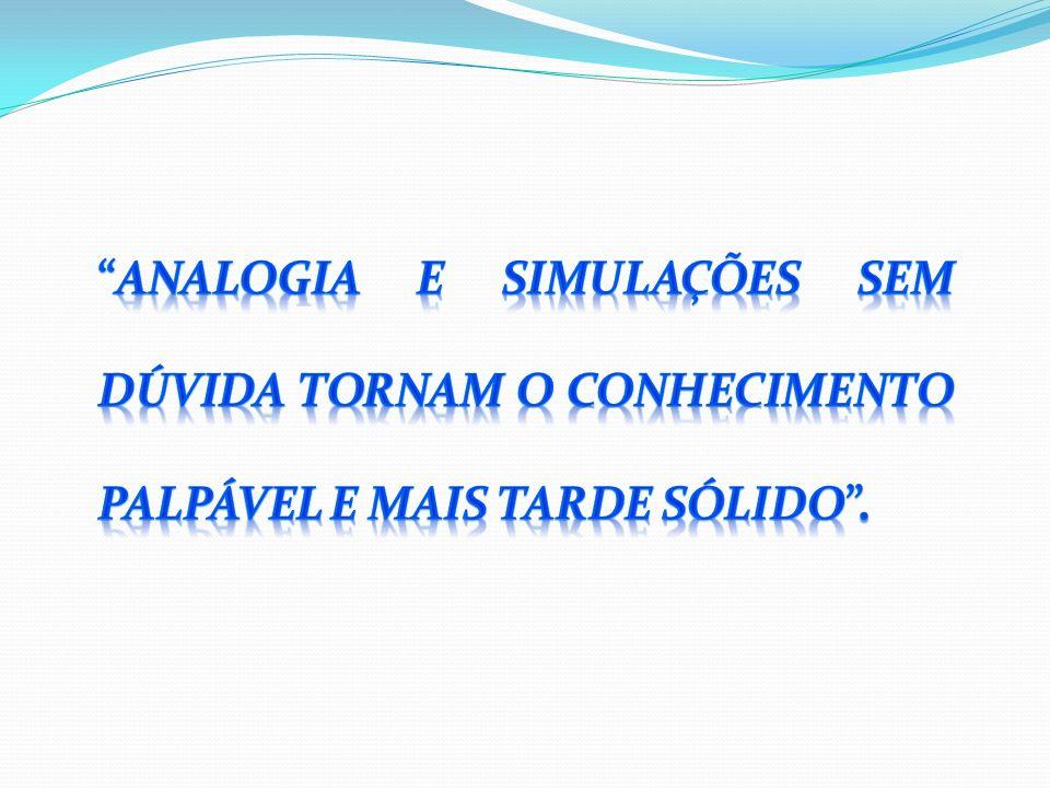 Analogia e simulações sem dúvida tornam o conhecimento palpável e mais tarde sólido .
