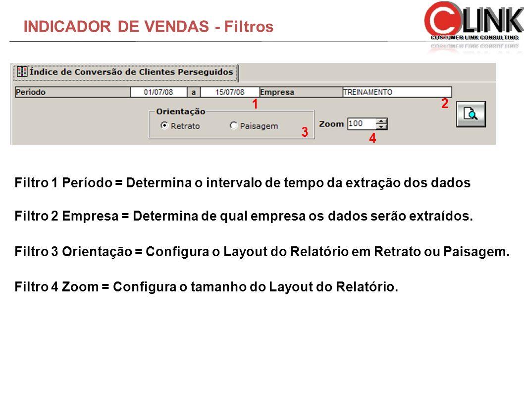 INDICADOR DE VENDAS - Filtros