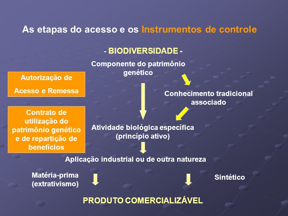 As etapas do acesso e os Instrumentos de controle