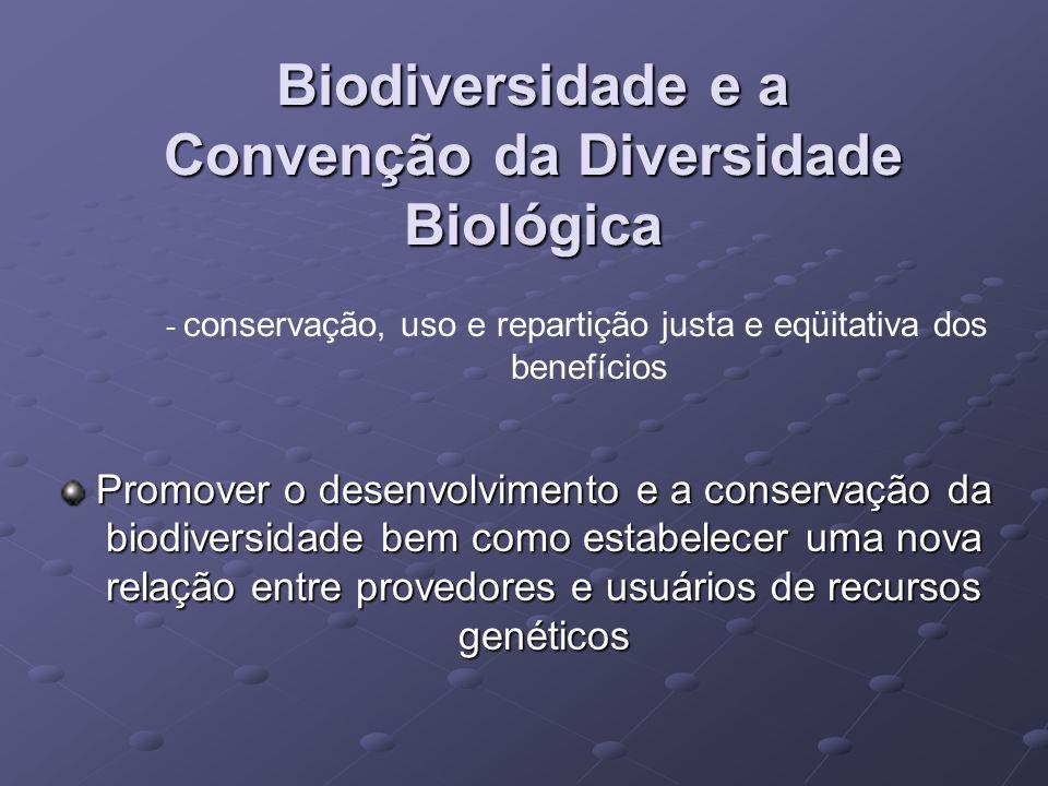 Biodiversidade e a Convenção da Diversidade Biológica