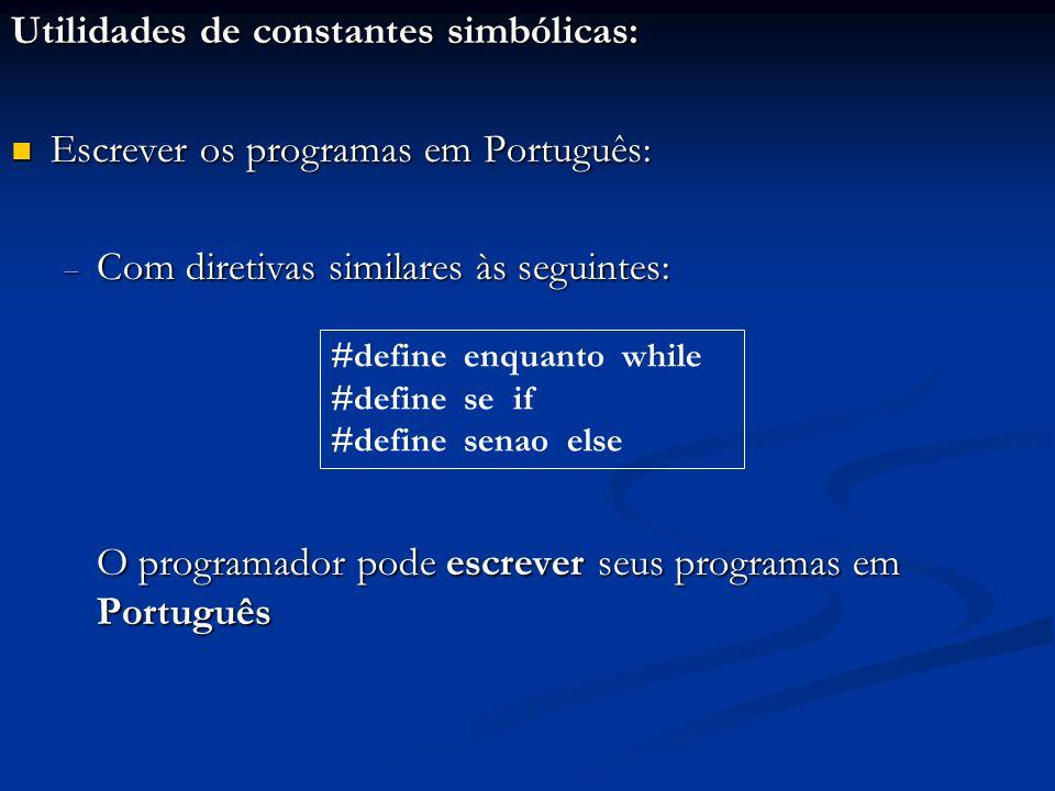 Utilidades de constantes simbólicas: