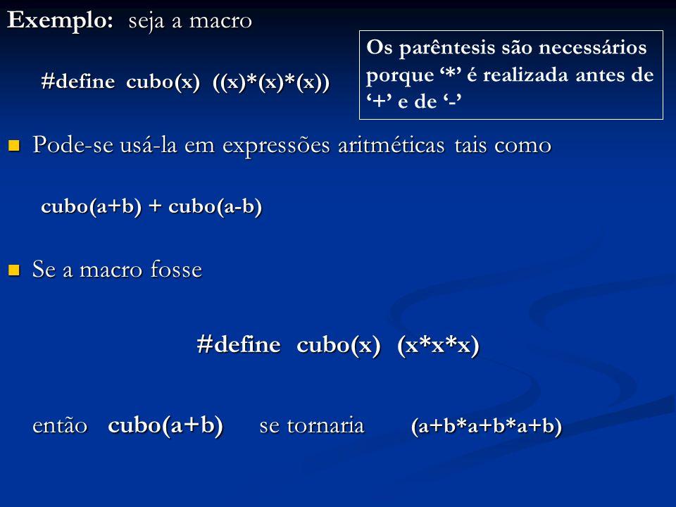 #define cubo(x) (x*x*x)