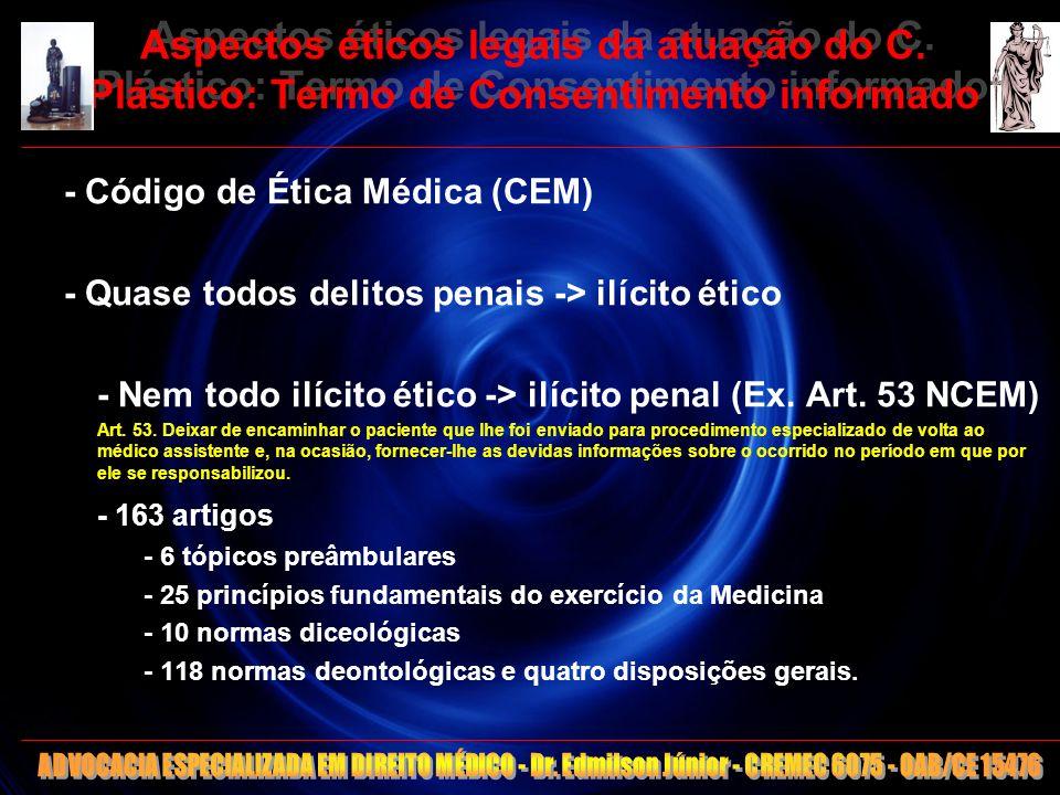 Aspectos éticos legais da atuação do C