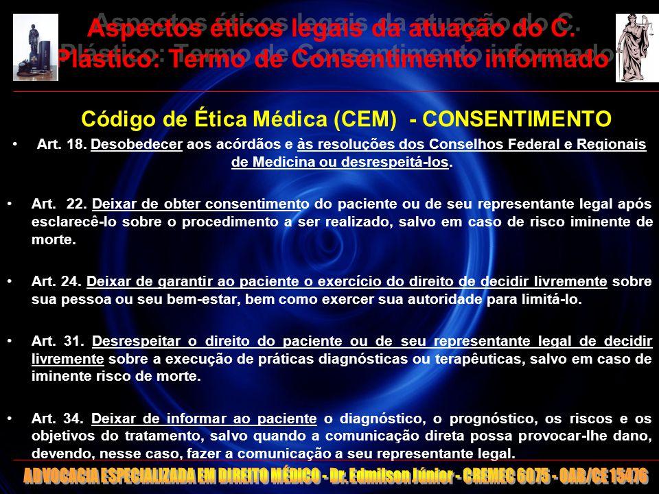 Código de Ética Médica (CEM) - CONSENTIMENTO