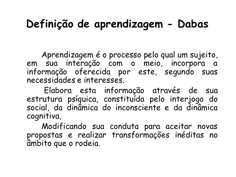 Definição de aprendizagem - Dabas