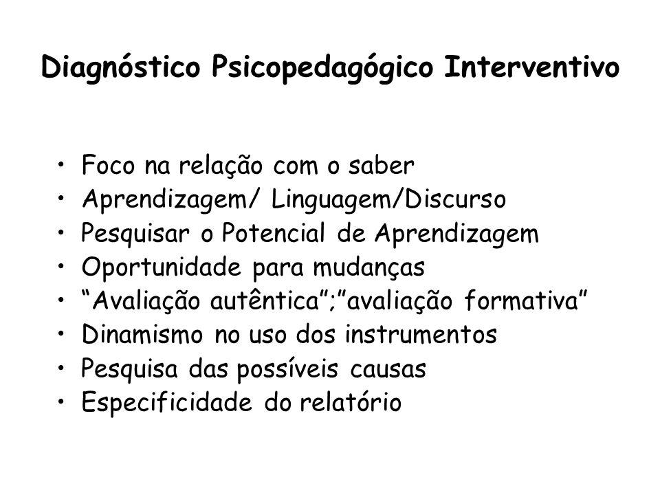 Diagnóstico Psicopedagógico Interventivo