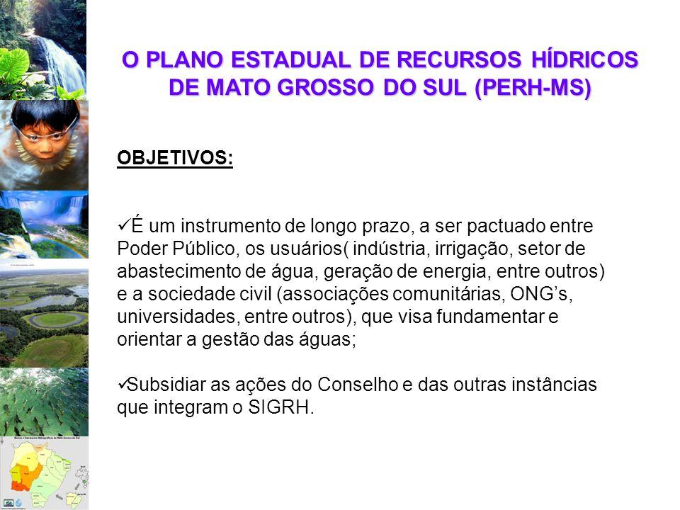 O PLANO ESTADUAL DE RECURSOS HÍDRICOS DE MATO GROSSO DO SUL (PERH-MS)