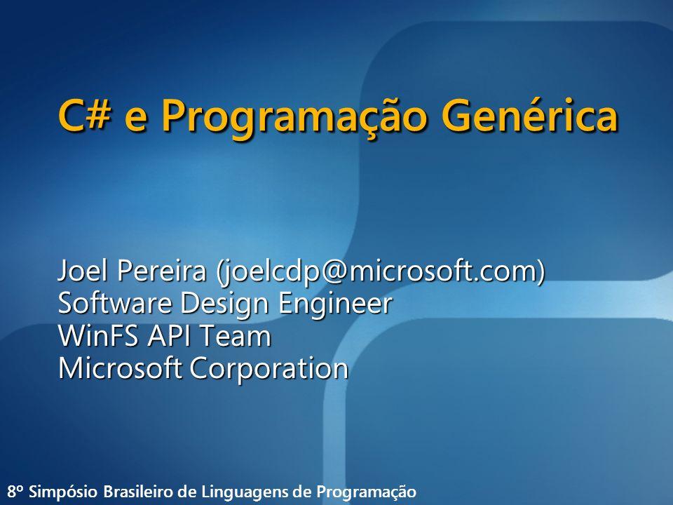 C# e Programação Genérica