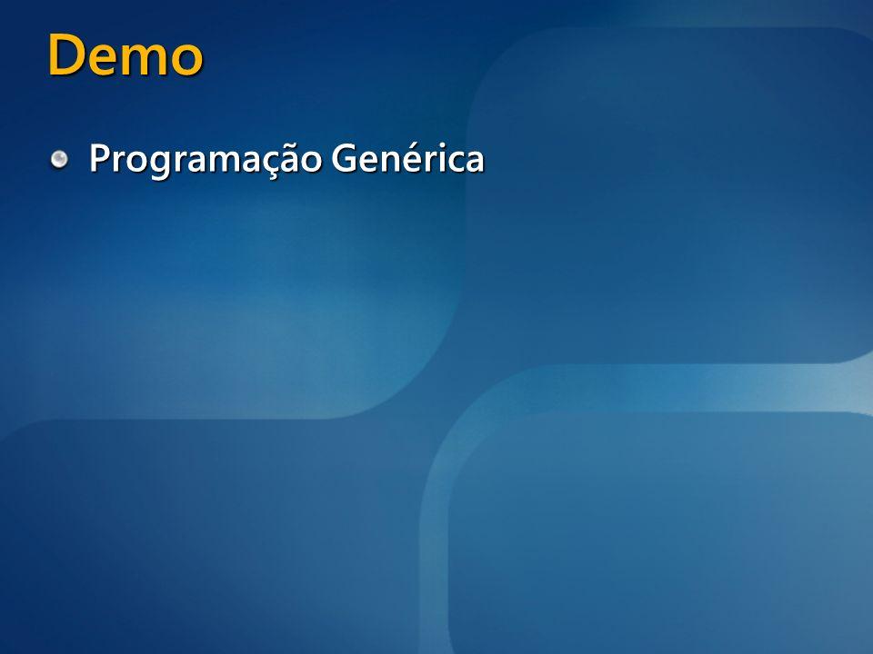 Demo Programação Genérica