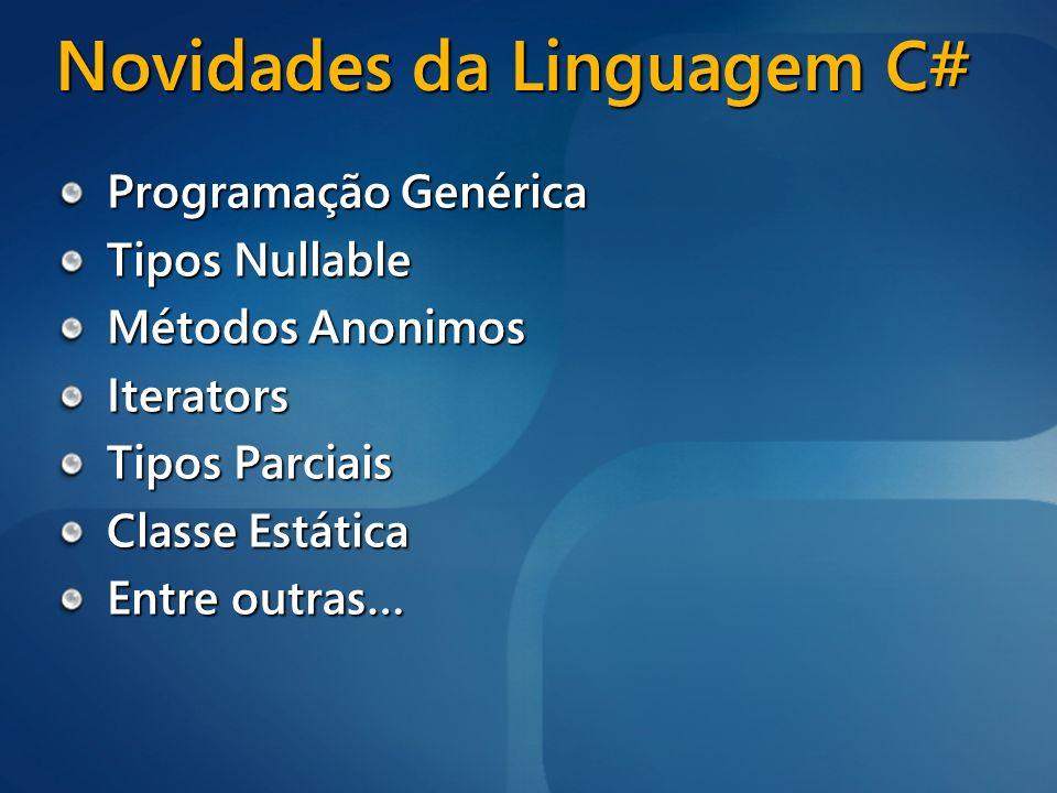 Novidades da Linguagem C#