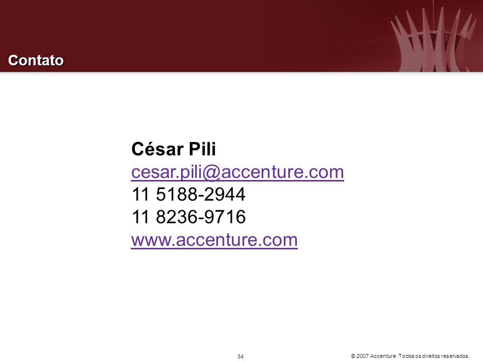 César Pili cesar.pili@accenture.com 11 5188-2944 11 8236-9716