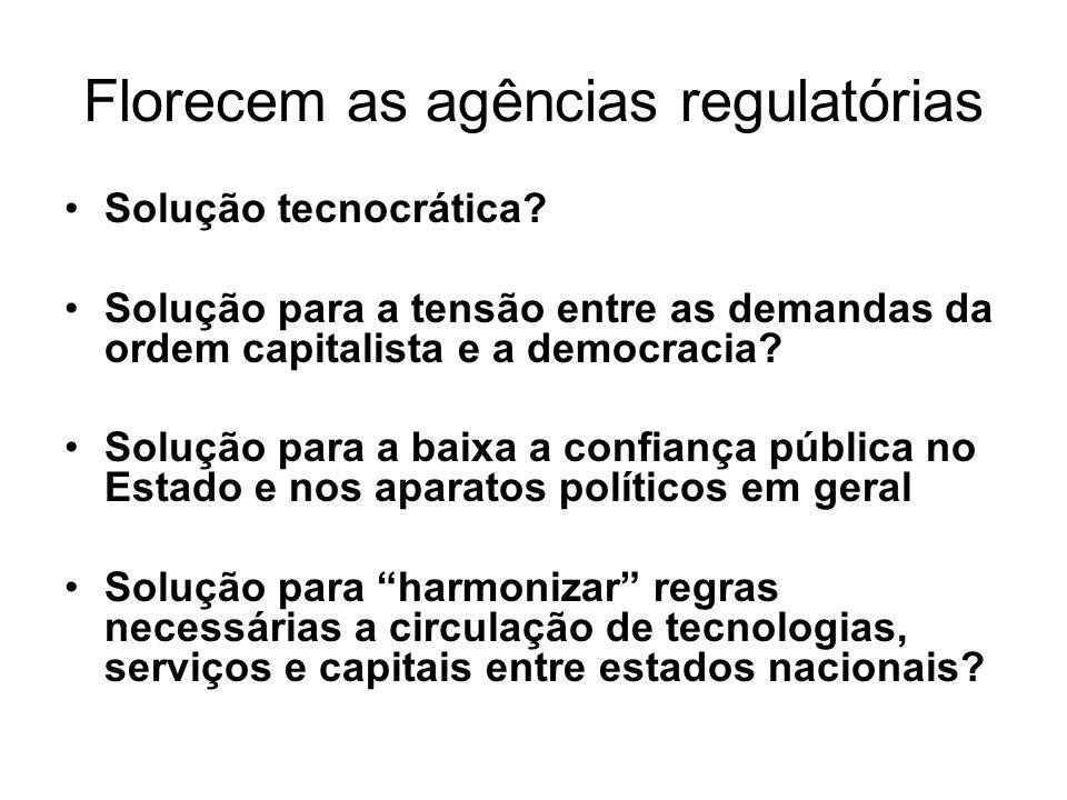 Florecem as agências regulatórias