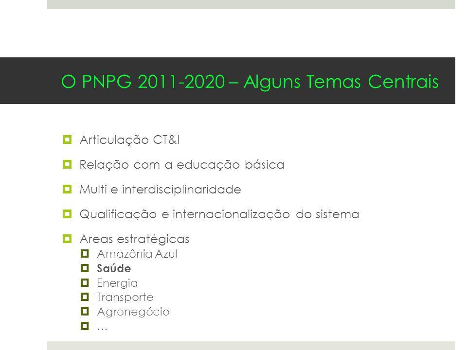 O PNPG 2011-2020 – Alguns Temas Centrais