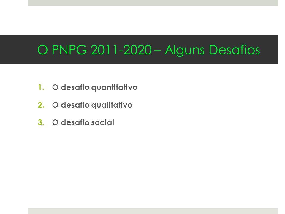 O PNPG 2011-2020 – Alguns Desafios