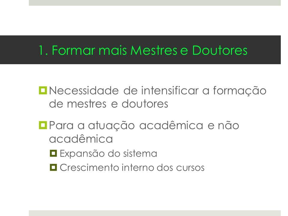 1. Formar mais Mestres e Doutores