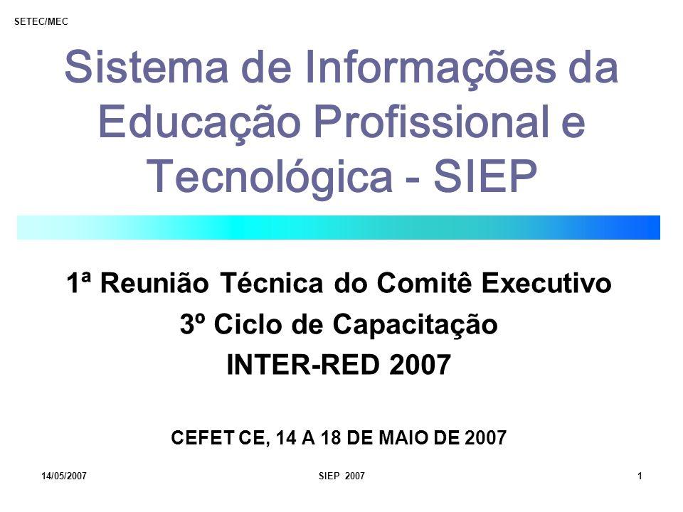 Sistema de Informações da Educação Profissional e Tecnológica - SIEP