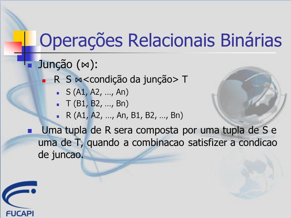 Operações Relacionais Binárias