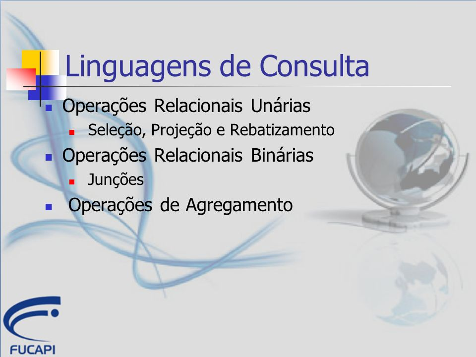Linguagens de Consulta