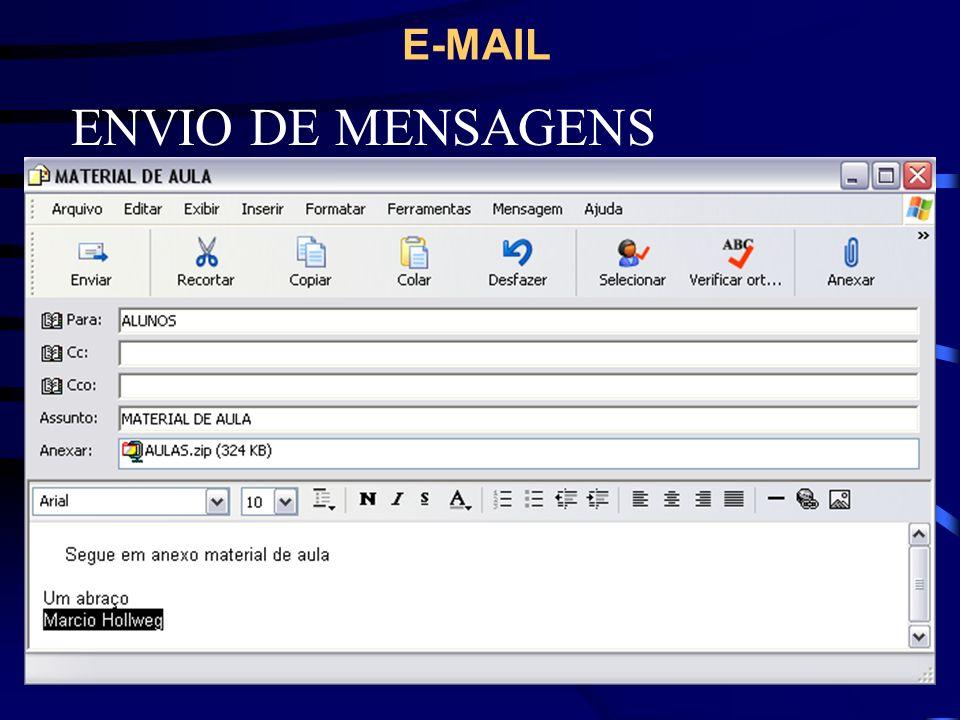 E-MAIL ENVIO DE MENSAGENS