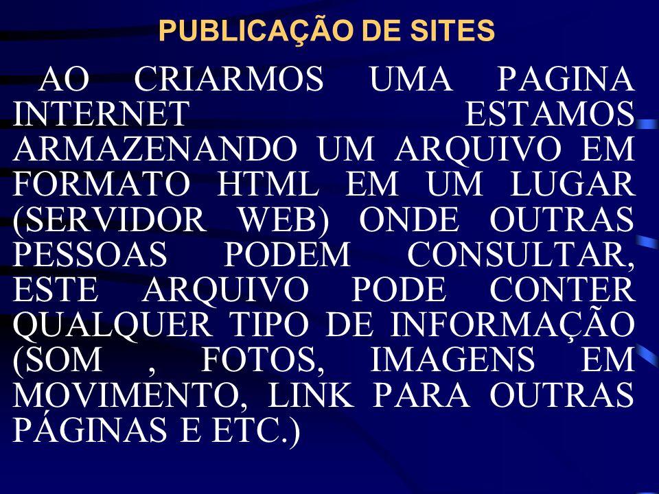 PUBLICAÇÃO DE SITES