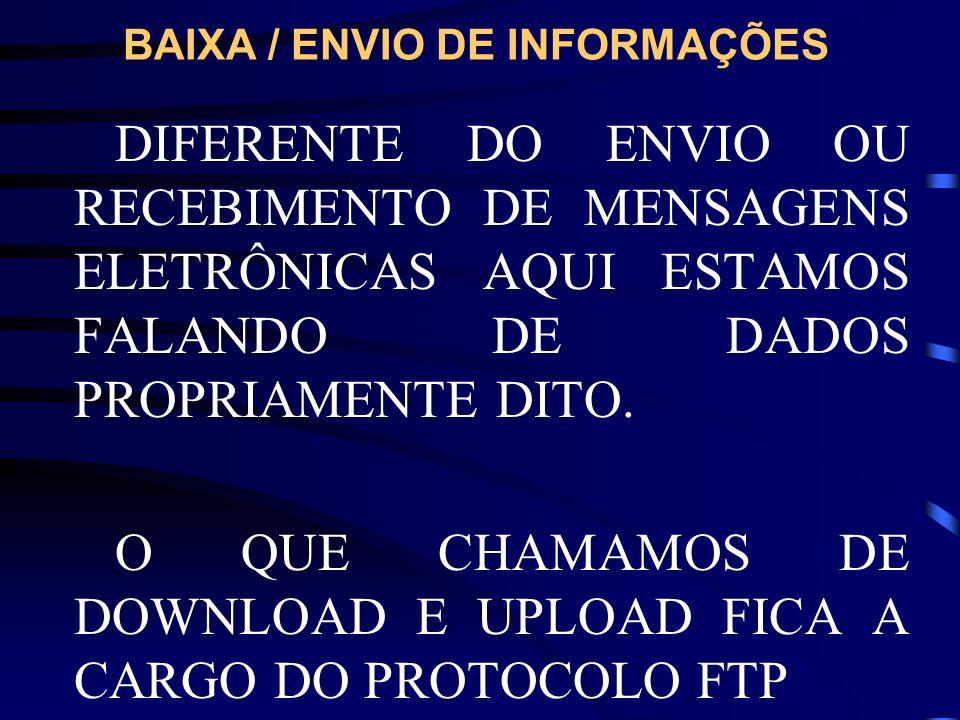 BAIXA / ENVIO DE INFORMAÇÕES