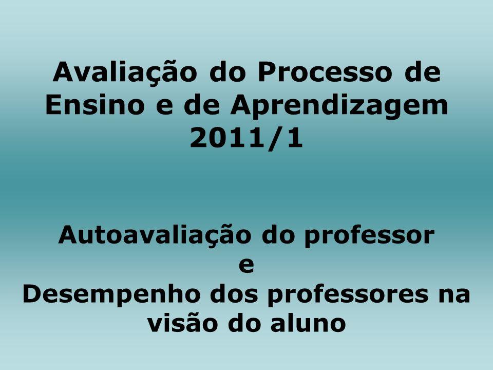 Avaliação do Processo de Ensino e de Aprendizagem 2011/1