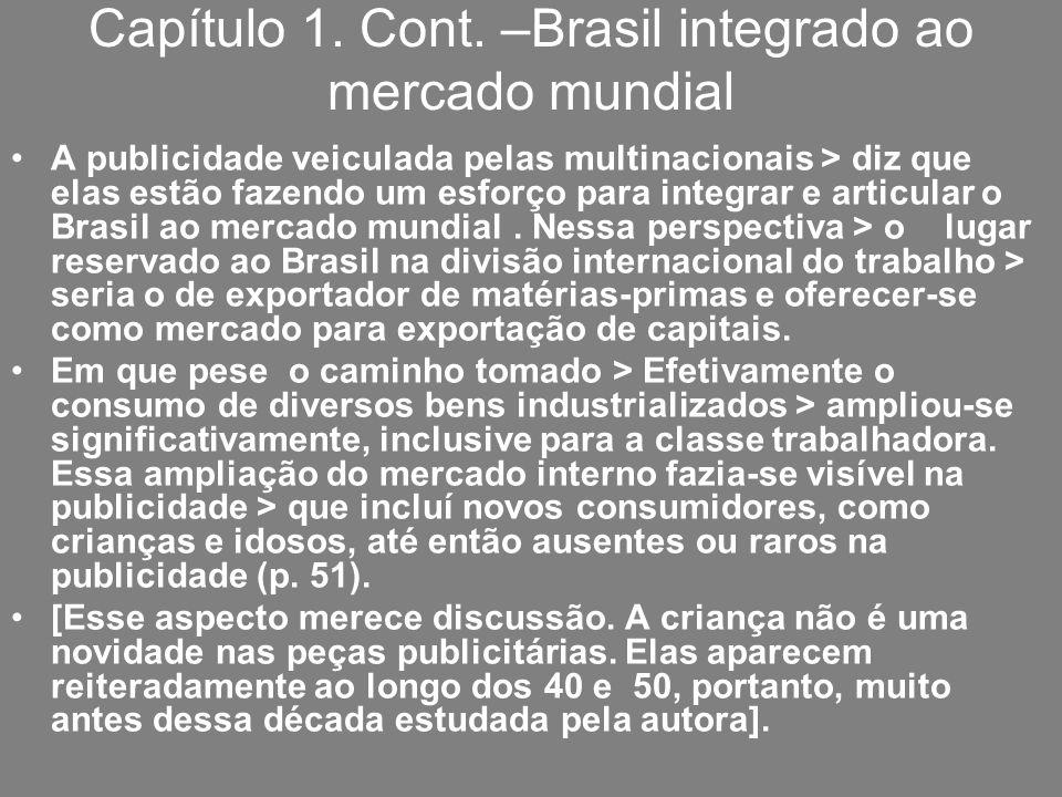 Capítulo 1. Cont. –Brasil integrado ao mercado mundial