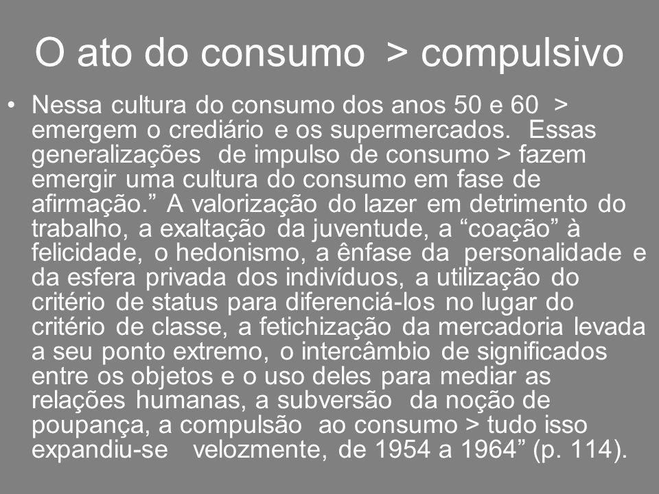 O ato do consumo > compulsivo