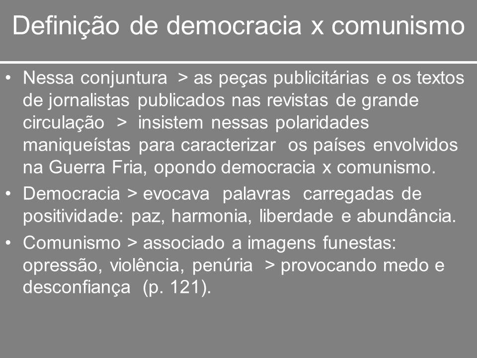 Definição de democracia x comunismo