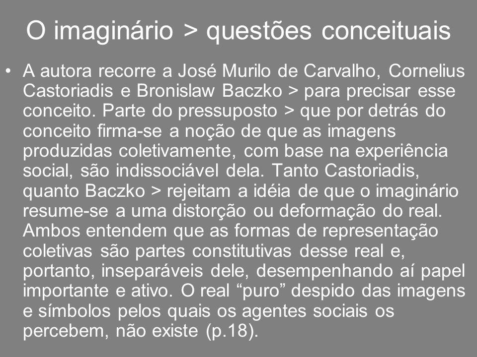 O imaginário > questões conceituais