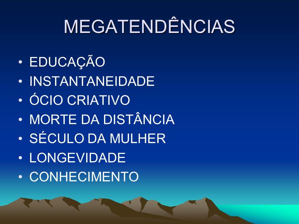 MEGATENDÊNCIAS EDUCAÇÃO INSTANTANEIDADE ÓCIO CRIATIVO