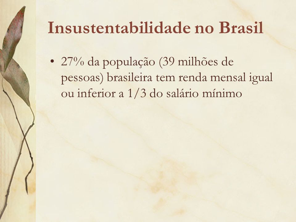 Insustentabilidade no Brasil
