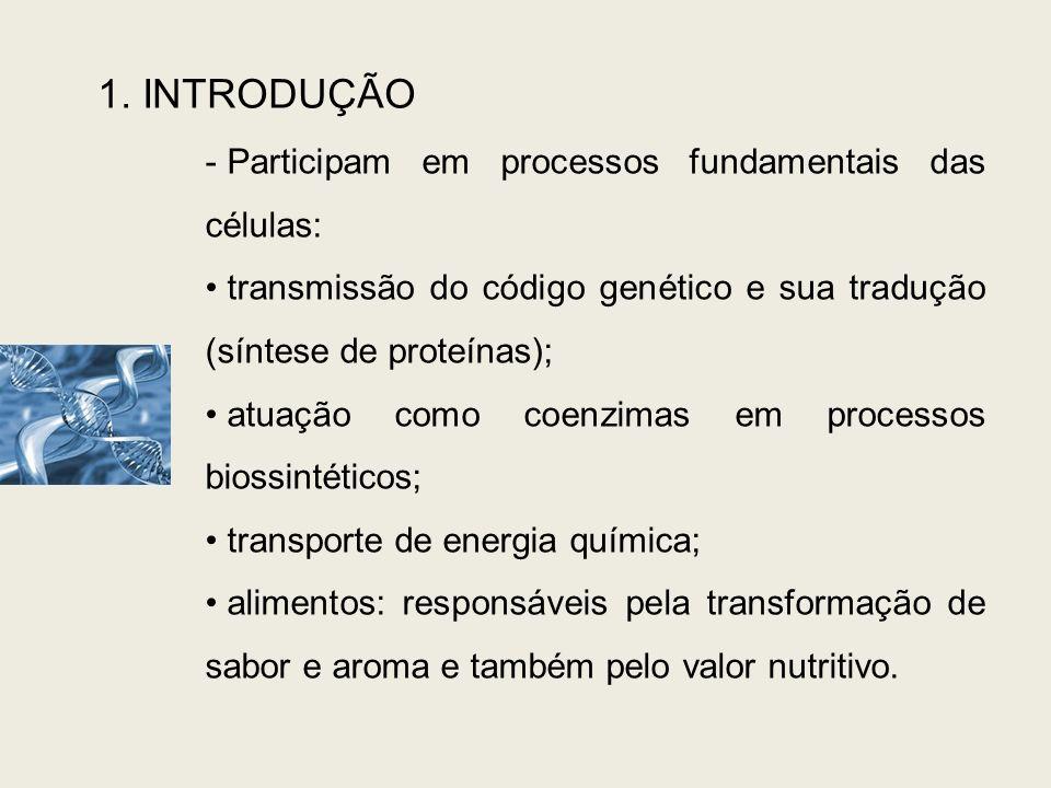 1. INTRODUÇÃO Participam em processos fundamentais das células: