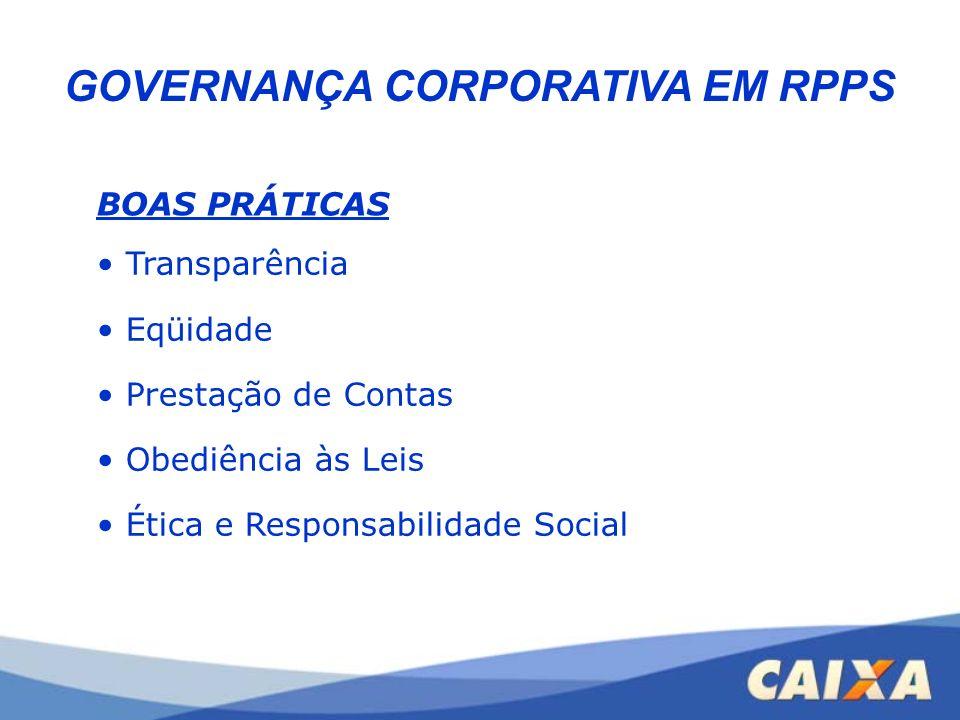 GOVERNANÇA CORPORATIVA EM RPPS