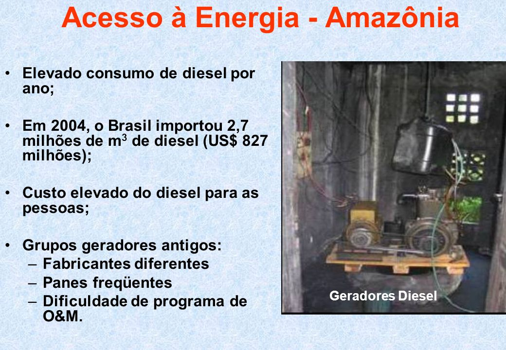 Acesso à Energia - Amazônia