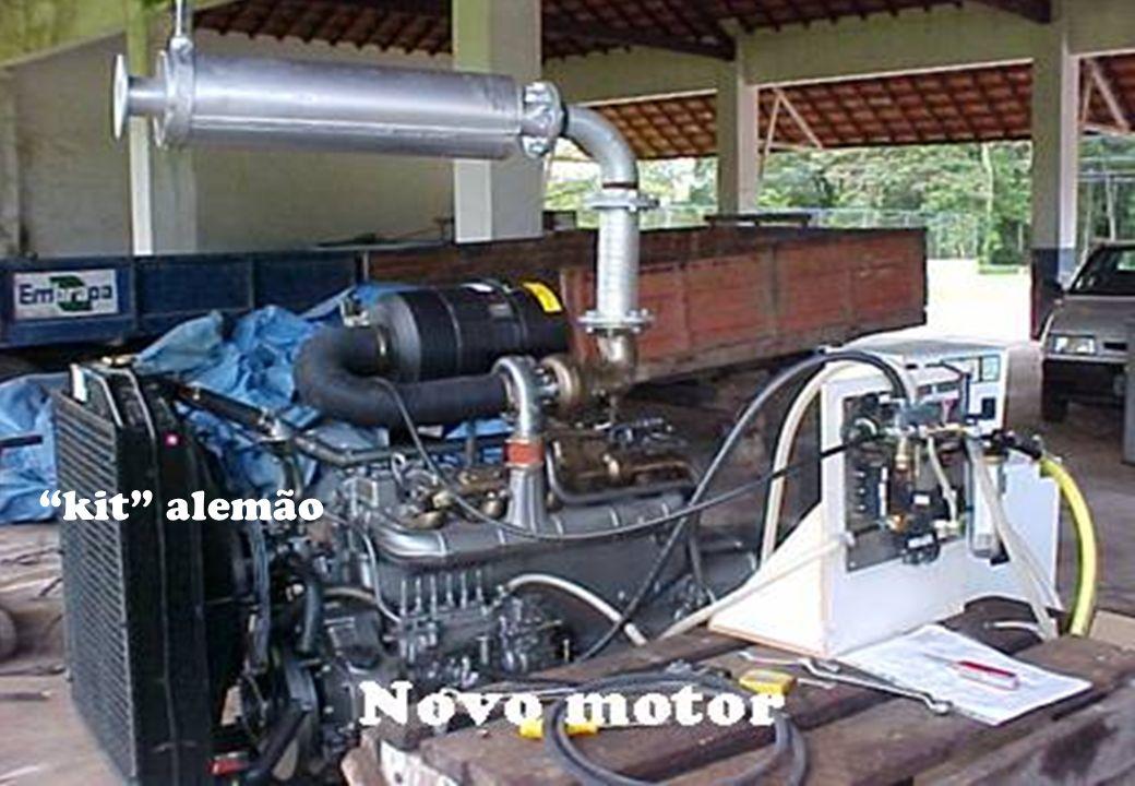Troca do motor Parâmetros de funcionamento. kit alemão Replicação. Diesel - Custo e poluição.