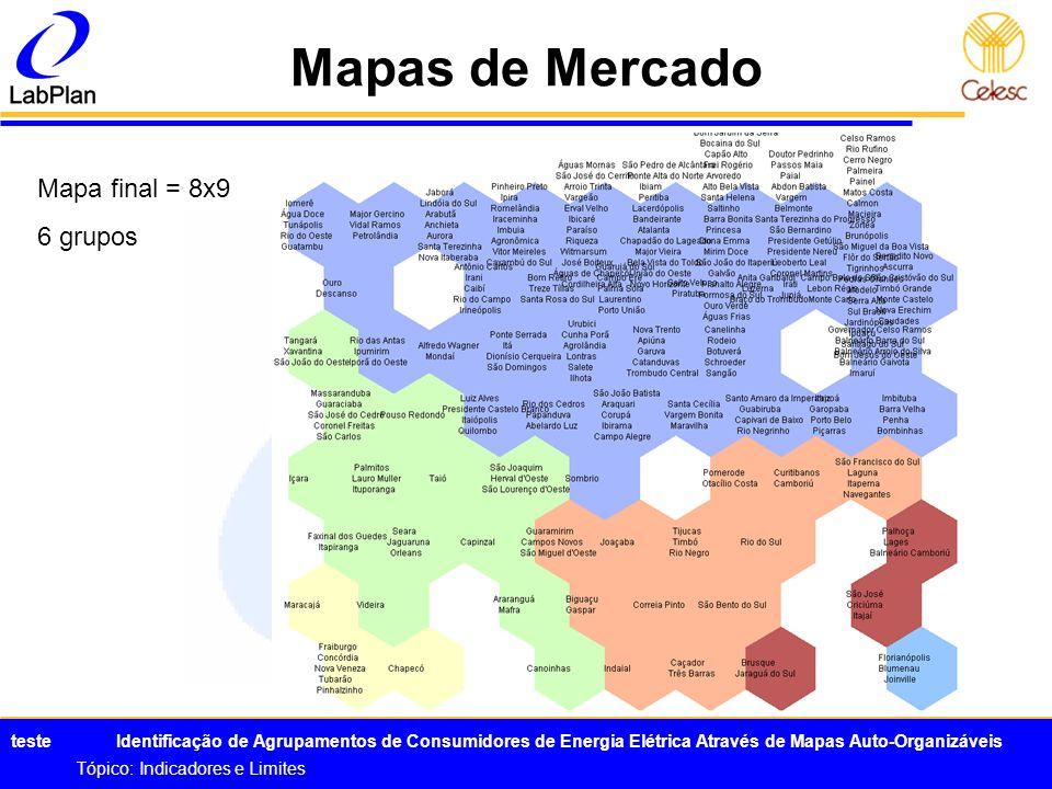 Mapas de Mercado Mapa final = 8x9 6 grupos