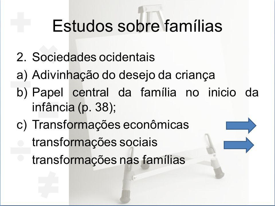 Estudos sobre famílias