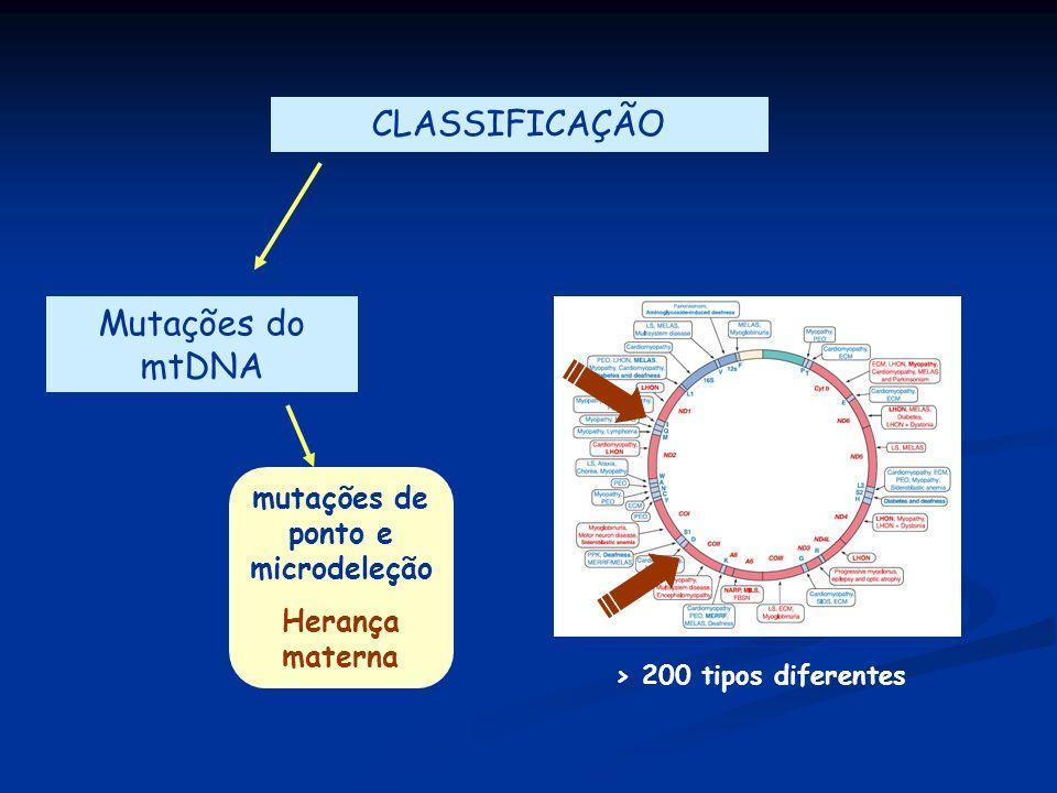 mutações de ponto e microdeleção