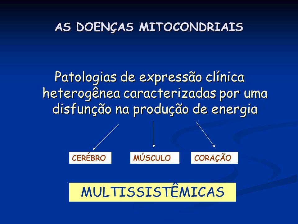 AS DOENÇAS MITOCONDRIAIS