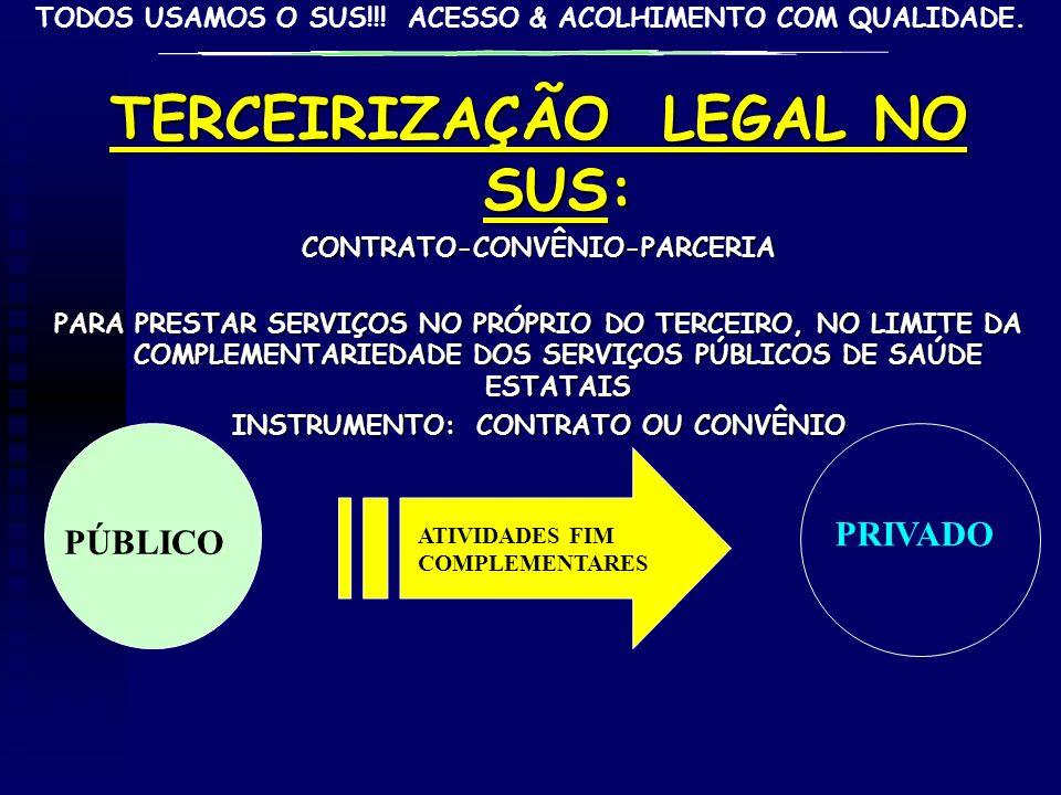 TERCEIRIZAÇÃO LEGAL NO SUS: