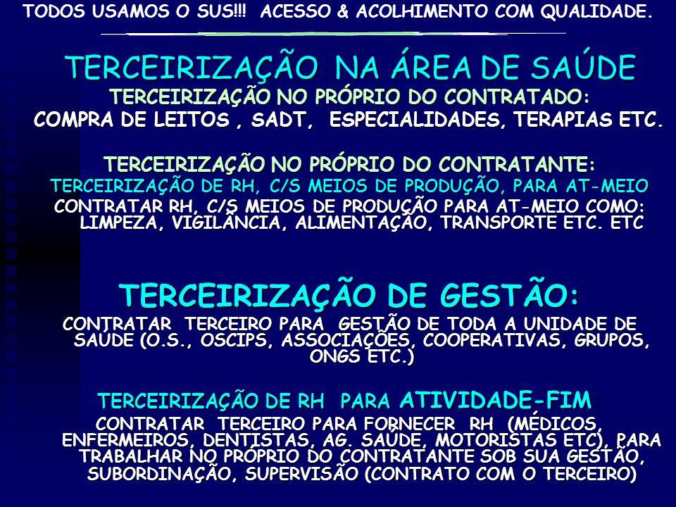 TERCEIRIZAÇÃO DE GESTÃO: