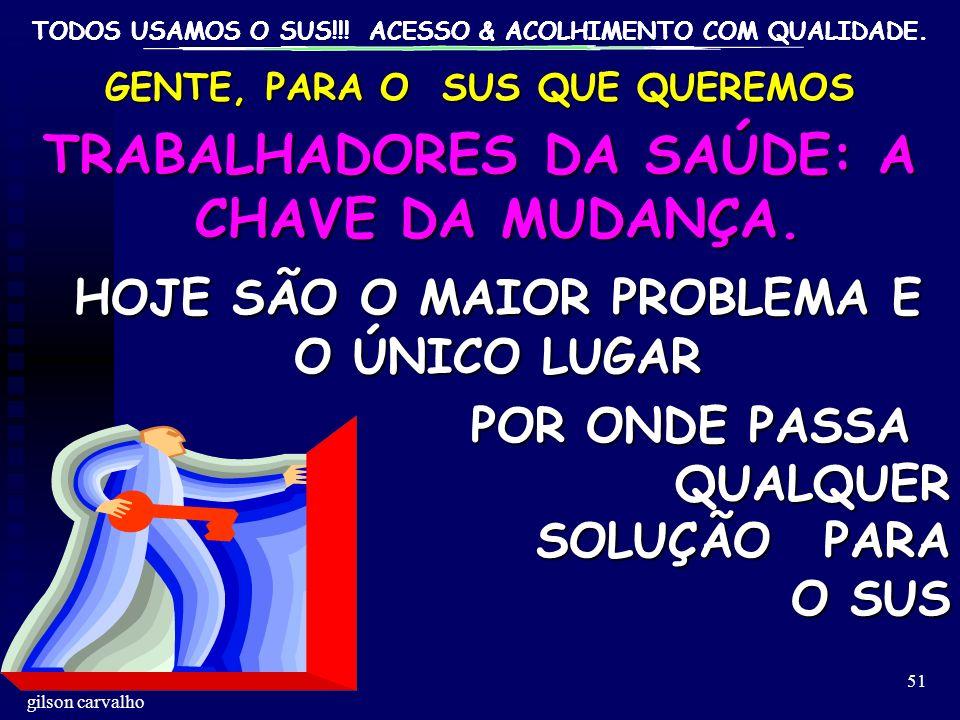 TRABALHADORES DA SAÚDE: A CHAVE DA MUDANÇA.